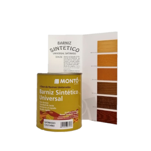Barniz sintético para madera en colores. En Tot Color, Villajoyosa.