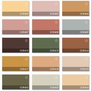 Carta Colores COF 1 - Revestimiento Montokril Rugoso