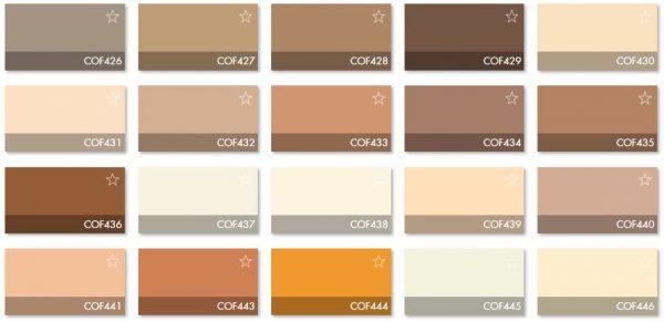 Carta Colores COF 2 - Revestimiento Montokril Rugoso