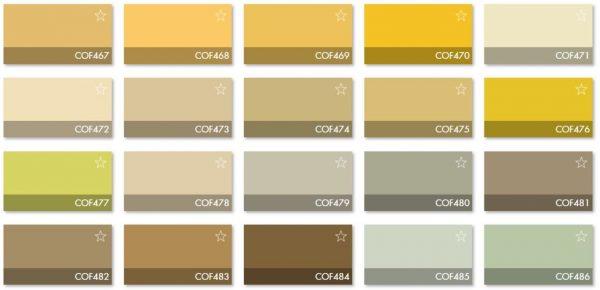 Carta Colores COF 4 - Revestimiento Montokril Rugoso