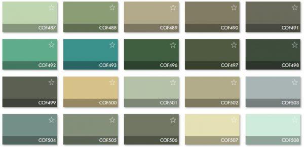 Carta Colores COF 5 - Revestimiento Montokril Rugoso