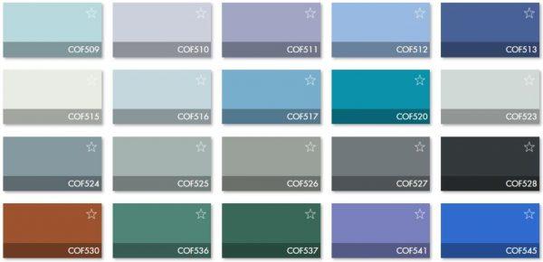 Carta Colores COF 6 - Revestimiento Montokril Rugoso