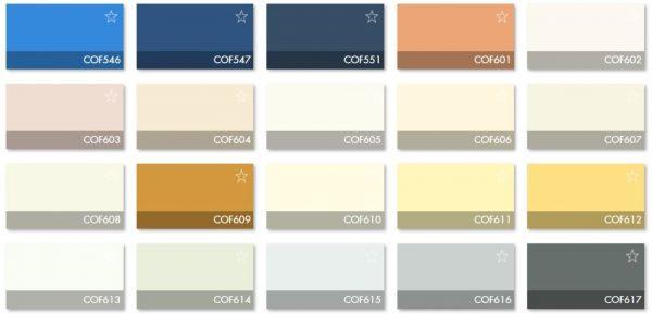 Carta Colores COF 7 - Revestimiento Montokril Rugoso