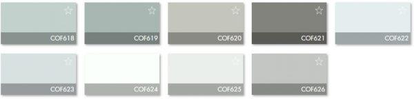 Carta Colores COF 8 - Revestimiento Montokril Rugoso