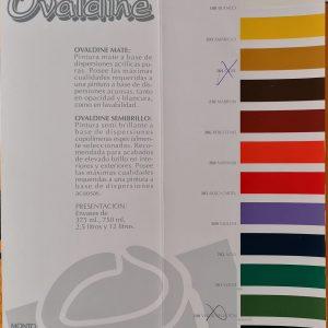 Carta colores Ovaldine Mate - Montó